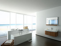 Free View Of A Spacious And Elegant Bathroom In An Stock Photo - 47313120