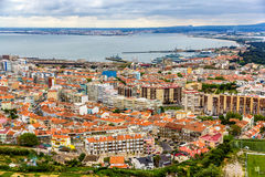 View Of Almada City Near Lisbon Royalty Free Stock Images