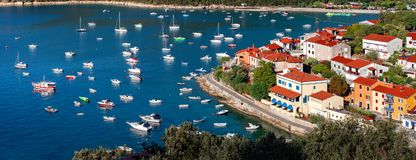 Free View Of Beautiful Resort Town Rabac On Kvarner Bay In Istria, Cr Royalty Free Stock Photos - 99490438