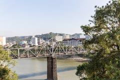 View Of Blumenau City House And Itajai River. Santa Catarina Royalty Free Stock Photography