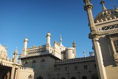 View Of Brighton Pavilion In A Sunny Day Royalty Free Stock Photo