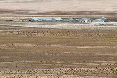View Of Buildings Of Salt Mine Of  Salar Del Rincon  In Sico Pass, Royalty Free Stock Images