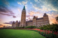 View Of Canada Parliament Building In Ottawa Stock Image