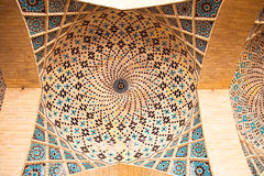 View Of Ceiling Nasir Al-Mulk Mosque Royalty Free Stock Image