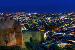 View Of Derbent City At Night. Republic Of Dagestan, Russia Royalty Free Stock Photography