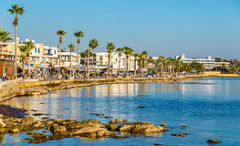 Free View Of Embankment At Paphos Harbour Stock Photo - 63637180