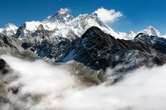 Free View Of Everest From Gokyo Ri Stock Photo - 24776400