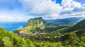 Free View Of Faial Village And Eagle Rock, Madeira Island, Portugal Stock Images - 124666354