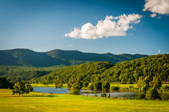 View Of Fields, The Shenandoah River, And Distant Mountains In T Royalty Free Stock Image