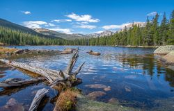 Free View Of Finch Lake And Rocky Mountains In Background Stock Images - 127415424