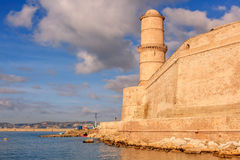 View Of Fort St. Jean In Marseille With The Sea Royalty Free Stock Photo