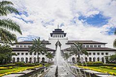 Free View Of Gedung Sate, An Old Historical Building With Art Deco Style In Bandung, Indonesia Royalty Free Stock Images - 179360389