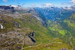 View Of Geiranger Royalty Free Stock Photo