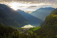 View Of Geiranger Royalty Free Stock Images