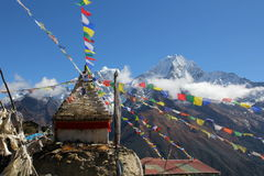 View Of Gompa From Dole Stock Images