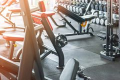 Free View Of Health Exercise Equipment For Bodybuilding Royalty Free Stock Images - 134081089