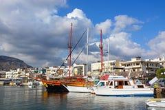 Free View Of Hersonissos Harbour. Stock Photos - 80247333