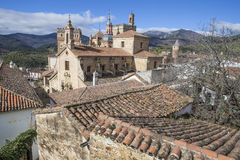 View Of Historic Building Roofs Of Guadalupe Town, Spain Stock Image