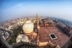 Free View Of Jama Masjid And New Delhi Stock Photography - 170719032