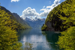 View Of Königssee From The North Shore Of The Lake Royalty Free Stock Photos
