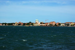 View Of Lido From San Servolo, Venice Royalty Free Stock Photo