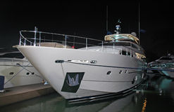 View Of Luxury Yacht At Night Stock Photos