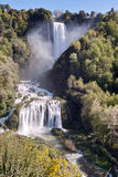 View Of Marmore Falls, Terni, Umbria, Italy. Royalty Free Stock Photo