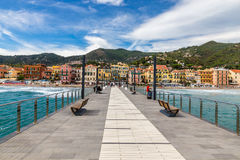 Free View Of Mole Leading To The Town Of Alassio,Italy Royalty Free Stock Photos - 62043898