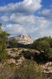 View Of Mont Saint Victoire, France Royalty Free Stock Images