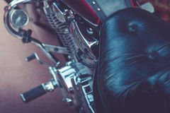 View Of Motorbike Detail. Close-up Of Motorcycle Parts. Royalty Free Stock Photo