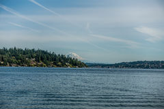 Free View Of Mount Rainier From Seward Park 3 Stock Photography - 55579472