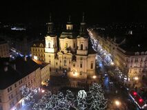 Free View Of Night Prague A Few Days Before Christmas 3886 Royalty Free Stock Photos - 189036948