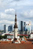 View Of Old And Modern Tallinn, Estonia Stock Photos