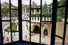 Free View Of Park Guell Through A Window Royalty Free Stock Photos - 157949118