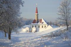 Free View Of Priory Palace Frosty January Day. Gatchina Stock Photo - 69277870
