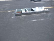 Free View Of Roofing Repairs; AC Curb On Commercial EPDM Flat Roof Stock Image - 114149621