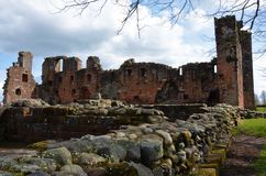 View Of Ruins Of Penrith Castle - Landmarks In Penrith, Cumbria. Royalty Free Stock Photography