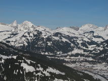 Free View Of Saanen In The Winter Royalty Free Stock Photos - 28502048