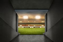 Free View Of Soccer Stadium Entrance Stock Photo - 113033700