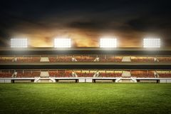 Free View Of Soccer Stadium Fields Royalty Free Stock Image - 113033656