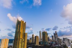 Free View Of Surfers Paradise Skyscrapers At Dusk Royalty Free Stock Photography - 121806707