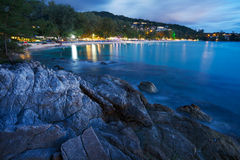 View Of Surin Beach At Night Royalty Free Stock Image
