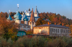 View Of The Annunciation Cathedral And Nicolo Trinity Monastery. Gorokhovets. The Vladimir Region. The End Of September 2015 Royalty Free Stock Photos