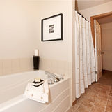 View Of The Bathroom Tub And Shower Stock Photos