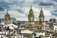 Free View Of The Cathedral And The Wall Of Lugo Declared World Heritage By Unesco Galicia, Spain Royalty Free Stock Photography - 150801067