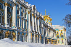 View Of The Catherine Palace, Winter. Royalty Free Stock Photo