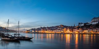 Free View Of The City Of Poto At Night With Classic Rabelo Boat Stock Images - 133467434