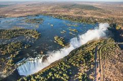 Free View Of The Falls From A Height Of Bird Flight. Victoria Falls. Mosi-oa-Tunya National Park.Zambiya. And World Heritage Site. Zimb Stock Images - 78386624