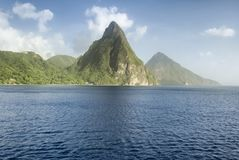 Free View Of The Famous Piton Mountains In St Lucia, Eastern Caribbean Stock Photography - 103126642