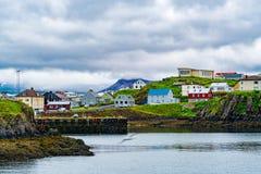 View Of The Harbor At Grundarfjordur Village Stock Photos